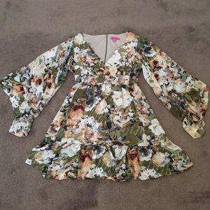 Betsey Johnson Green Floral Dress